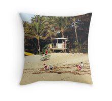 Hawaii Bay Watch Throw Pillow