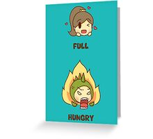 Hungry or hangry? Greeting Card