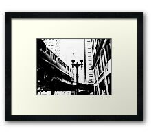 L-Train, Chicago, IL 1.1 Framed Print