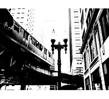 L-Train, Chicago, IL 1.1 Photographic Print