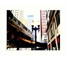 L-Train, Chicago, IL 1.2 Art Print