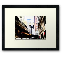 L-Train, Chicago, IL 1.2 Framed Print