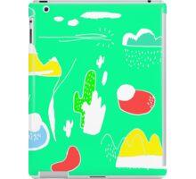 Green Cactus Mountain iPad Case/Skin
