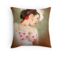 The Gainsborough Girl Throw Pillow