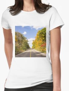 Autumn Road to Nowhere 2 Womens Fitted T-Shirt