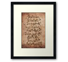 Yesterday, Tomorrow and Today Framed Print