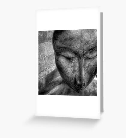 Zen statue Greeting Card
