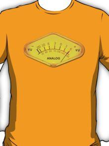 Analog sound audio meter  T-Shirt
