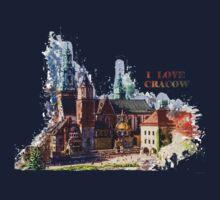 I love Cracow Wawel Castel Kids Tee
