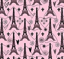 Paris Pink with Eiffel Tower by Greenbaby