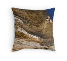 Wind Eroded Cave - Blackheath NSW Throw Pillow