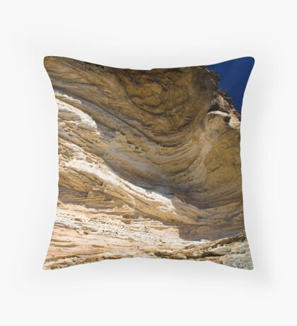 Wind Eroded Cave - Blackheath NSW Throw Pillow