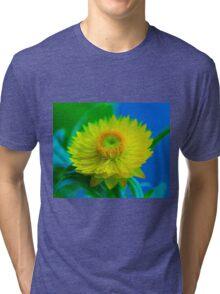 Fuzzy Yellow Tri-blend T-Shirt
