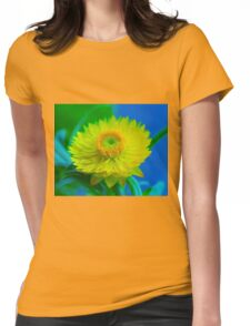 Fuzzy Yellow Womens Fitted T-Shirt