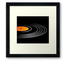 Music Retro Vinyl Record  Framed Print
