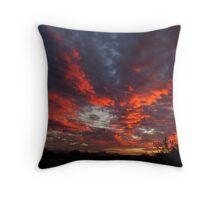 Blazing Clouds Throw Pillow
