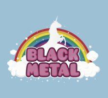 BLACK METAL! (Funny Unicorn / Rainbow Mosh Parody Design) Kids Clothes
