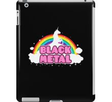 BLACK METAL! (Funny Unicorn / Rainbow Mosh Parody Design) iPad Case/Skin