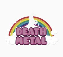 DEATH METAL! (Funny Unicorn / Rainbow Mosh Parody Design) Baby Tee