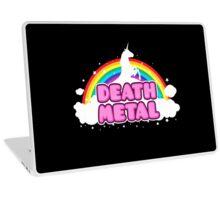 DEATH METAL! (Funny Unicorn / Rainbow Mosh Parody Design) Laptop Skin