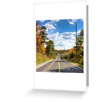 Autumn Road to Nowhere Greeting Card