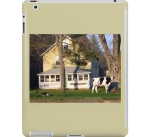 A Cow in The Front Yard with a Bedit iPad Case/Skin