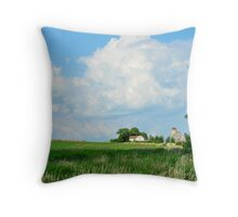 Summer farmscape Throw Pillow