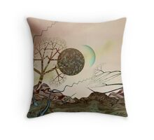 Other Worldly Sunset Throw Pillow