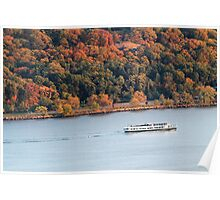 The Boat In Autumn Poster