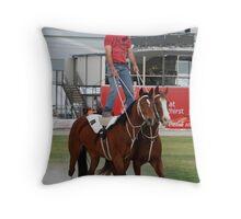 Roman Riding - Royal Melbourne Show - Series (7) Throw Pillow