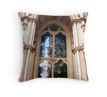 Stained-glass window Throw Pillow