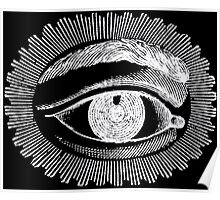 Black and White All Seeing Eye  Poster