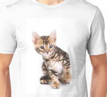 Funny ginger tabby kitten bengal Unisex T-Shirt