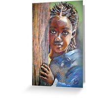 African Girl Greeting Card