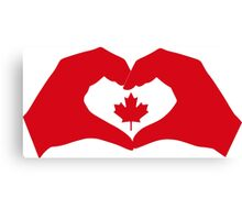 I Heart Canada 1.0 Canvas Print