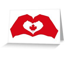 I Heart Canada 1.0 Greeting Card