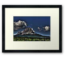 Storm Clouds Over Crowsnest Framed Print