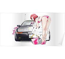 Maki in Bikini wash Car Poster