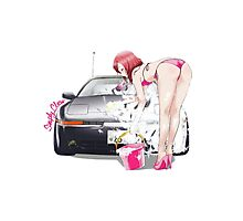 Maki in Bikini wash Car Photographic Print