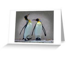The Penguin who would be King Greeting Card