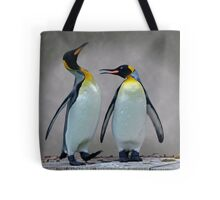 The Penguin who would be King Tote Bag