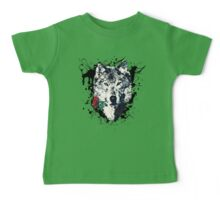 Wolf with Rose, Love Symbol, Wolves, Nature, Native, Splash,  Baby Tee