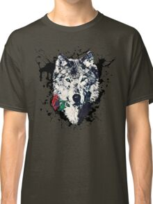 Wolf with Rose, Love Symbol, Wolves, Nature, Native, Splash,  Classic T-Shirt