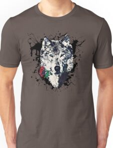 Wolf with Rose, Love Symbol, Wolves, Nature, Native, Splash,  Unisex T-Shirt