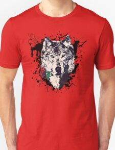 Wolf with Rose, Love Symbol, Wolves, Nature, Native, Splash,  T-Shirt