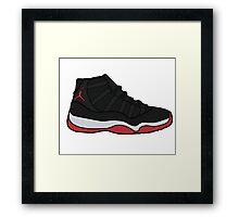 Jordan 11 Bred Framed Print