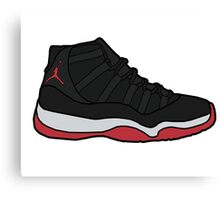 Jordan 11 Bred Canvas Print