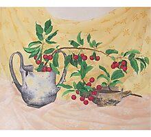 Wild Cherries and antiquities Photographic Print