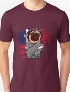 4th of July Independence Pug Unisex T-Shirt