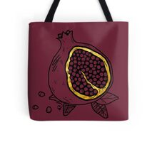 Pomegranate woodblock in GOLD Tote Bag